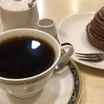 96740260 - トップフォト ケーキセット(モンブラン コーヒー)