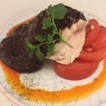 希須林 - 口水鶏です 鶏ムネ肉はさっぱりですが辛味噌が濃厚です
