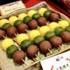 福屋 盛寿の郷 - 料理写真:三色団子@芋餡、抹茶、こし餡
