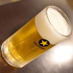 寿司居酒屋のぼる - 生ビール(180円)