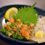 寿司居酒屋のぼる - 地魚なめろう(560円)