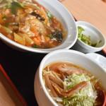 麺処 大章 - 中華丼&半ラーメンセット(870円)2018年11月