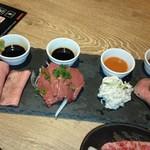 きた川 牛侍 - 2018 11/18刺身4種盛り