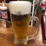 ロッキーカナイ - 「生ビール(中)」480円也。