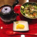 生け簀の甲羅 - へしこ茶漬け
