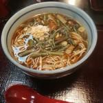 大茂ん - 料理写真:山菜蕎麦850円