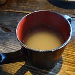 侘助 - 蕎麦湯