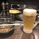 炭焼き 成吉思汗いし田 - エビス生ビール