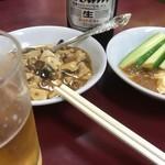 井荻飯店 - お通し?のミニ麻婆豆腐