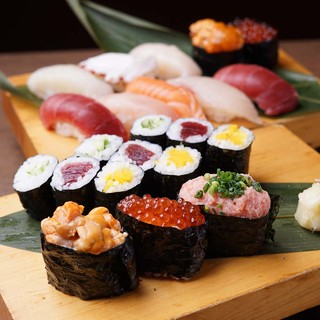 握り寿司150円~、変わり種寿司もございます!
