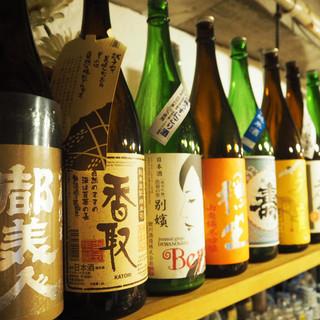 豊富な日本酒は「食中酒」を中心に体に優しい飲み方でご提供