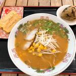 安西製麺所 - 料理写真:味噌ラーメン(中)出汁巻き玉子&昆布オニギリ