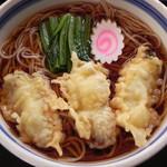 三角砂場 - 料理写真:~冬季限定~牡蠣天そば@1,150円