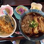 長命うどん - 料理写真:天丼ランチ「うそ」