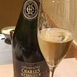 96776764 - お酒(1)シャンパーニュ:シャルル・エドシック・ブリュット・レゼルヴ                       「新留大将の欧州遠征の成功を記念して乾杯♪」