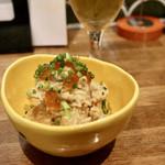 天ぷらスタンド KITSUNE - いぶりがっこのポテトサラダ
