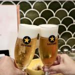 天ぷらスタンド KITSUNE - トリビーで乾杯〜♪