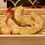 天ぷらスタンド KITSUNE - 海老とカボチャ