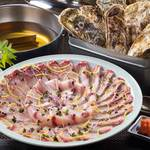 寿司割烹 八風 - おすすめ冬宴会プラン3,500円はぶりしゃぶ・ガンガン焼き・牡蠣チゲ鍋から選べる全6品。