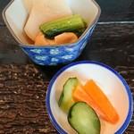 定食あさひ - 漬物+小鉢