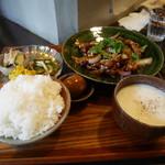 定食堂 金剛石 - 仔羊の生姜焼き定食