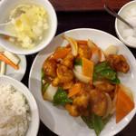 96782106 - 「酢豚定食」800円(税込)