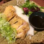 Nurukansatou - 青葱たっぷり 鶏のパリパリ天ぷら