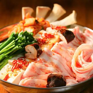 厳選食材を散りばめた鍋の宴会