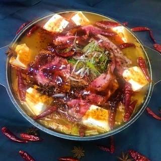 特選豚と霜降り仙台牛のしびれ鍋しゃぶしゃぶコース4800円