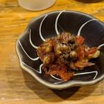 網代一菜 - お通し 海老とクルミ