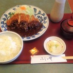 ふじの実 - 料理写真:味噌カツ定食