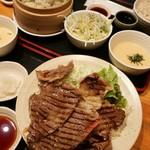 96797788 - 国産牛上リブロース塩焼き定食1枚1350円