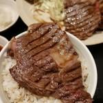 96797823 - 国産牛上リブロース塩焼き定食1枚1350円