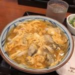 丸亀製麺 - 牡蠣たっぷり玉子あんかけうどん並