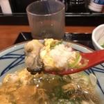 丸亀製麺 - 牡蠣と雑炊が旨いなあ
