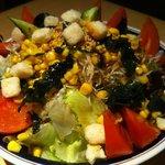 焼肉飯場 円蔵 - 大盛りサラダ