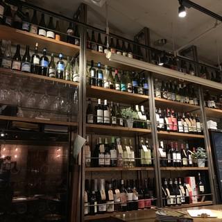 壁一面のワインセラー