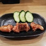 餃子と唐揚げの美味しいお店 肉玉屋 - 明太子あごおとし炙り!