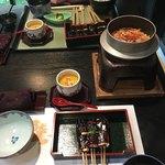 卯月 - 味噌田楽、釜飯、茶碗蒸し、吸物