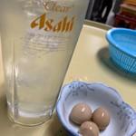 立ち飲み居酒屋 ドラム缶 - ポン酢サワーとうずらの煮卵
