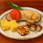 東白庵かりべ - 料理写真:前菜盛り合せ