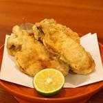 東白庵かりべ - 牡蠣の天ぷら