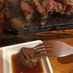 やっぱりステーキ - やっぱりステーキ‼︎ 200g (´∀`) ポン酢醤油にワサビ
