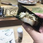 鮨旬美西川 - 帆立炙り、香箱蟹、蟹味噌