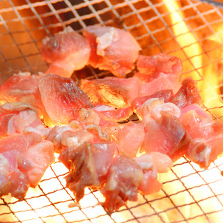 心月の看板メニュー『福岡県産鶏ももの炭焼き』