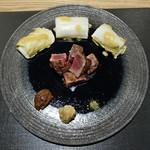 Ginzakuki - 近江牛ランプのステーキ、白菜のハーブ焼き