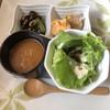 饗庭 - 料理写真:前菜4種 グリーンサラダ、焼売二種、 中華風茶碗蒸し、ひじき青菜大豆の煮物