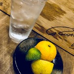 イモバル トサヤマ男爵 - 高知柑橘系生搾りサワー(ゆず、ぶしゅかん、直七)