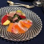 VITRA - 紅葉鯛とキングサーモンのハーモニー  柚子風味 ヴィネグレットソース