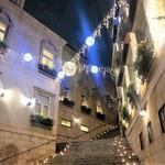 VITRA - お洒落な夜景 レストラン前の大階段
